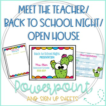 Editable Back to School Night/Meet the Teacher/Open House ...