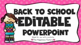Editable Back to School Night Powerpoint Template