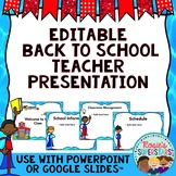 Editable Back to School Night Presentation - Superhero Themed