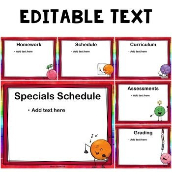 Editable Back to School Night Presentation - Dot Dude Themed