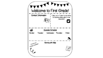 Editable Back to School Night fans for parents
