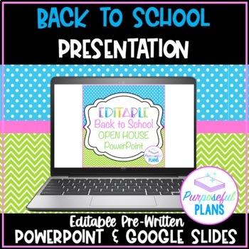 editable welcome back to school nightopen housemeet the teacher powerpoint