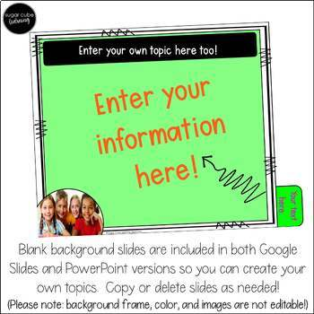 Editable Back to School/ Open House Presentation Templates: DIGITAL & PowerPoint