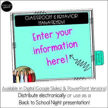 Editable Back to School/ Open House Presentation Templates: DIGITAL & PowerPoint
