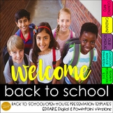 Editable Back to School/ Open House Presentation Templates