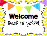 Editable Back to School (Open House) Slideshow