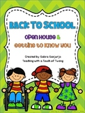 Editable Back to School Packet (Open House & Getting to Know You)