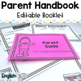 Editable Back to School Parent Guide