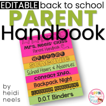 Editable Parent Handbook Flipbook