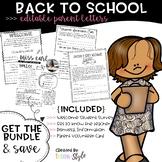 Editable Back to School Parent letters