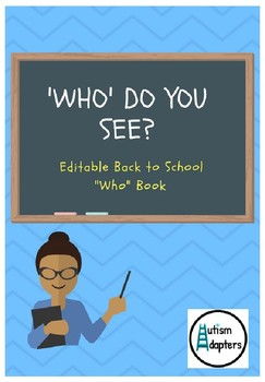 Editable Back to School People Adapted Unit