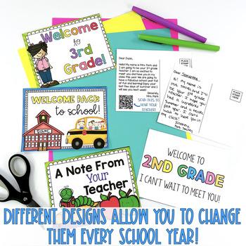 {Editable} Back to School Postcards