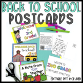 {Editable} Back to School Postcards