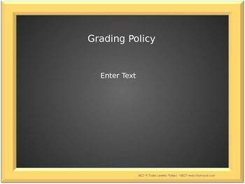 Back to School Editable Power Point (Black Board)