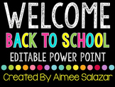 Editable Back to School Power Point Presentation {FREEBIE}