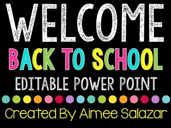 Free back to school powerpoint presentations resources lesson editable back to school power point presentation freebie toneelgroepblik Choice Image