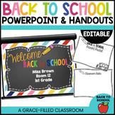 Editable PowerPoint and Parent Handouts