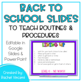 Back to School Slides to Teach Routines and Procedures