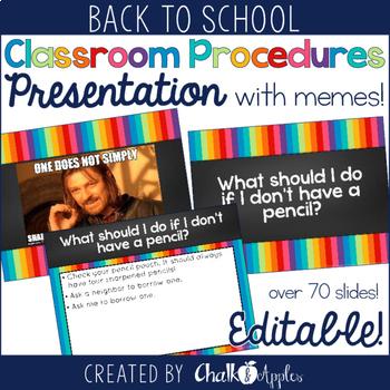 Editable Back to School Presentation Bundle {Open House & Procedures}