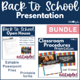 Editable Back to School Presentation Bundle {Open House &