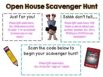 Editable Back to School QR Scavenger Hunts