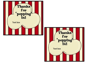 Editable Back to School, Seasonal, and Birthday Treat Bag Toppers and Cards
