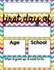 Back to School First Day of School Editable Sign