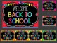 Editable Back to School Signs and Posters : Black Chalkboard Theme