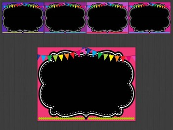 Editable Signs and Posters : Black Chalkboard Theme, Back to School, First Day