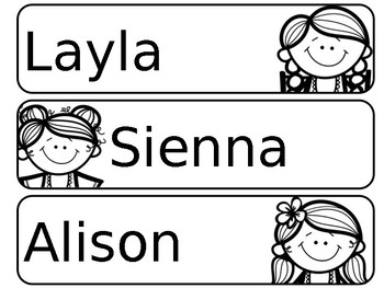 Back to School {Student Name tags}