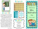 Editable Back to School Teacher Brochure