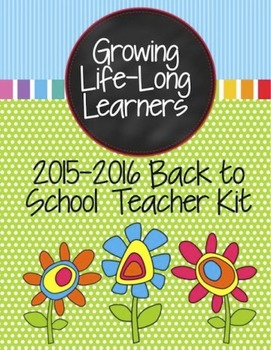 Editable Back to School Teacher Kit