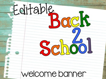 Back to School {Welcome Banner}