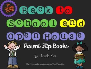 Editable Back to School/Open House Parent Flip Books - 1st Grade CCSS