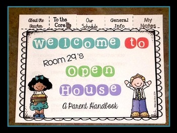 Editable Back to School/Open House Parent Flip Books - Kinder CCSS and TEKS