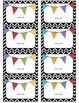 Editable Chevron and Polkadot Badge Labels great for Back to School
