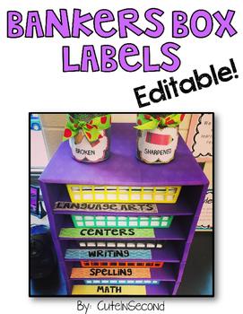 Editable Bankers Box Storage Labels