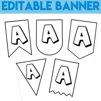 Editable Banner - Decor Classroom