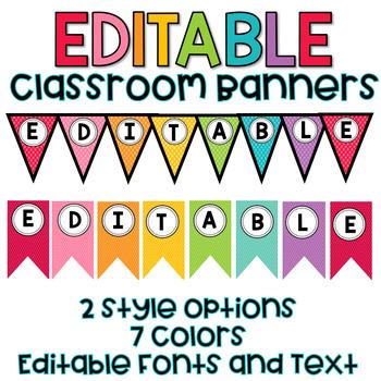 Editable Banner