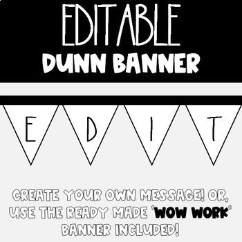 Editable Dunn Banner