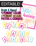 Editable Banner - Back to School, Bright, Throw Kindness l