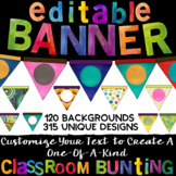 Editable Banner & Bunting Flags for Classroom & Office Decor *315 Pennants