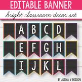 Editable Banner - Chalkboard Brights