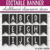 Editable Banner -  Chalkboard Themed Classroom