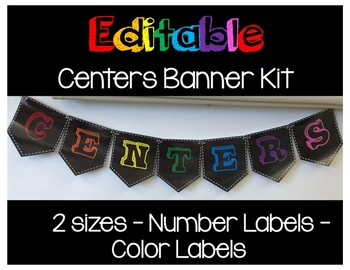 Editable Banner Kit - Centers - Bright Colors