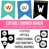 Editable Banner Maker: Create Custom Banners