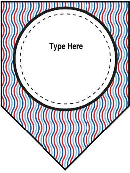 Editable Banner (Red, White& Blue)