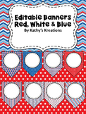 Editable Banner (Red, White& Blue)