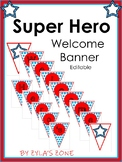 Editable Banner - Super Hero Theme