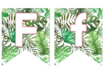 Editable Banner - Tropical